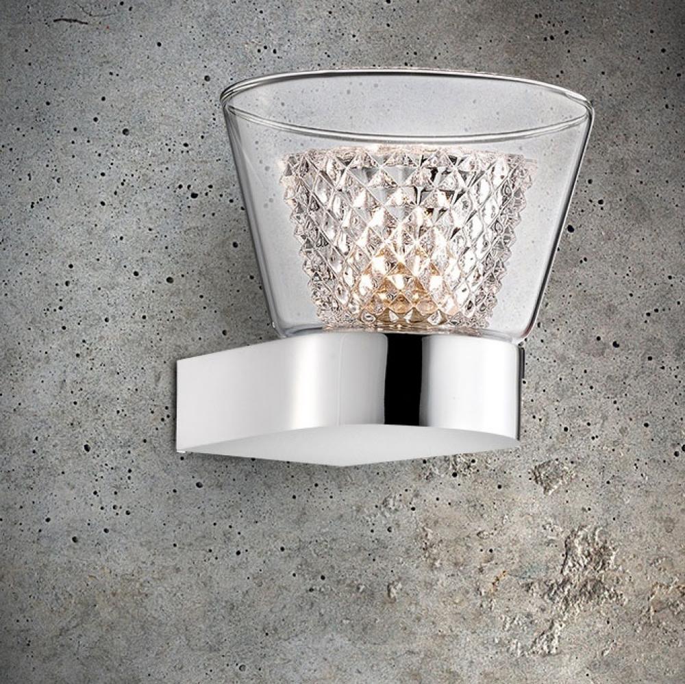 Diamond Chrome Wall Light